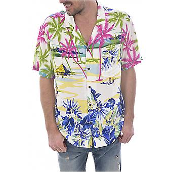 Chemise fluide hawaienne F92H03 WO02S  -  Guess jeans