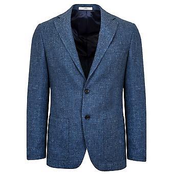 CC Collection Corneliani 2-Button Denim Blue Wool Blazer