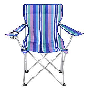 Yello dobrável praia cadeira para Camping, pesca ou praia - listras azuis