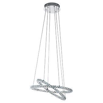Eglo - Varrazo LED hanger plafond licht glanzend verchroomd EG31667
