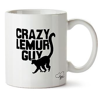 Hippowarehouse Crazy Lemur facet Wydrukowano Kubek Kubek ceramiczny 10oz