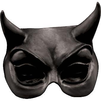 Devil Black Latex Half Mask For Halloween