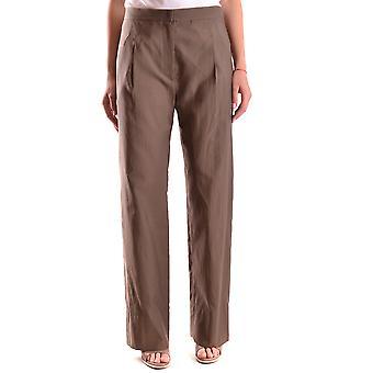 Brunello Cucinelli Ezbc002001 Women's Brown Cotton Pants