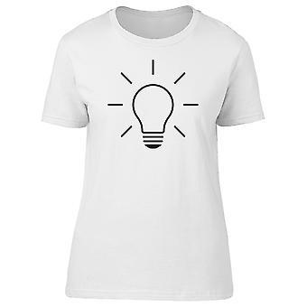 Light Bulb Line Doodle Tee Men's -Image by Shutterstock