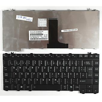 Toshiba Satellite A200-1BW zwarte Duitse lay-out vervanging Laptop toetsenbord