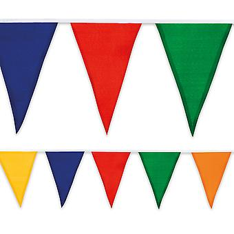 Fabric Cotton Multi Coloured Bunting Pennant Flags 10m Long Birthday Party Decoration