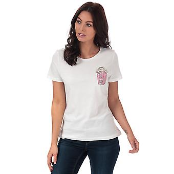 Womens Vero Moda Pops Diana T-Shirt In Snow White