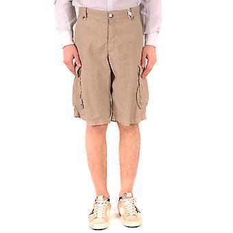 Armani Collezioni Ezbc049131 Männer's Beige Leinen Shorts