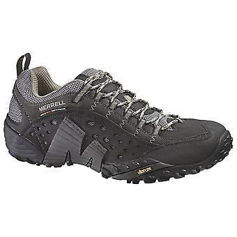Merrell Smooth Black Mens Intercept Walking Shoes
