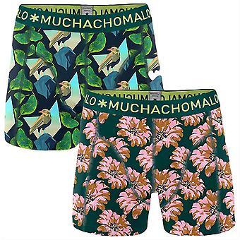 Muchachomalo Digital Nature 2-Pack Boxer Shorts - Black/Green/Pink