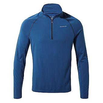 Craghoppers Mens 1th Layer Half Zip Polyester Baselayer Top