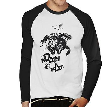 Krazy Kat Jump Men's Baseball Long Sleeved T-Shirt