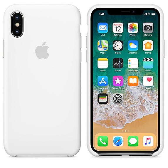 Original Packed MQT22ZM/A Apple Silicone Microfiber Cover Case for iPhone X - White