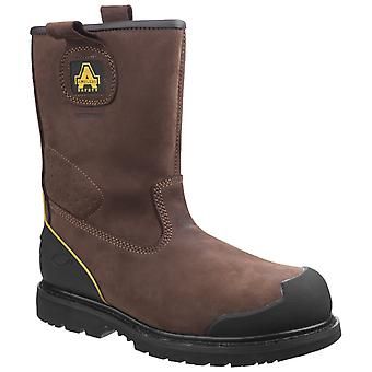 Amblers Safety Mens FS223 Goodyear Welted Impermeabile Pull su Industrial Safety Boot Brown
