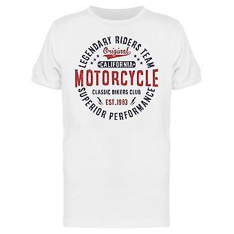 Cali Motorrad, legendäre Tee Men's -Bild von Shutterstock