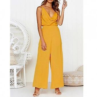 Plus Size Summer Sleeveless Elegant Long Playsuit