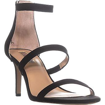 INC International Concepts I35 Lavonn Ankle Strap Zip Up Sandals, Noir, 6 États-Unis