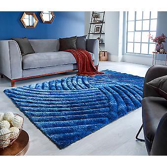 Verge Furrow Blue Rectangle Rugs Plaine / Presque Plaine Rugs