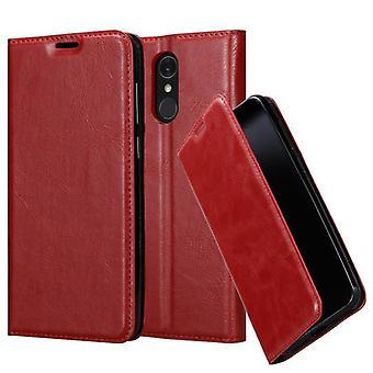 LG Q7+(プラス版)折りたたみ式電話ケース用ケース - カバー - スタンド機能とカードコンパートメント付き