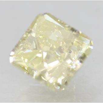 CERT 1,52 Carat fancy gul VS2 Radiant Enhanced naturlig diamant 6.41 x 6.26 mm