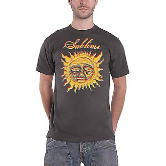 Sublime T Shirt Yellow Sun Band Logo new Official Mens Black
