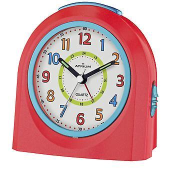 ATRIUM wekker analoge Quartz rood/blauw A921-1 zonder te tikken met licht en snooze