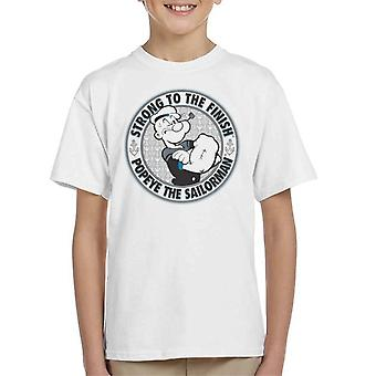 Popeye The Sailorman Strong To The Finish Kid's T-Shirt
