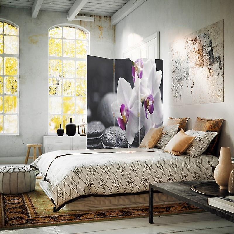 Diviseur de chambre, 3 panneaux, Double-Sided, Toile, Thème Zen