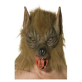 Mens Wolf Mask Fancy Dress Accessory