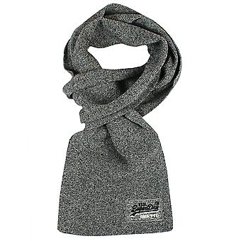 Superdry orange label basalt grey grit scarf