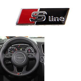 Black/Red/Silver Audi Steering Wheel Stick on Badge Emblem For A1 S1 A3 S3 RS3 A4 S4 RS4 A5 S5 RS5 A6 S6 RS6 A7 S7 RS7 A8 S8 RS8 Q2 Q3 Q5 Q7 Q8 TT R8