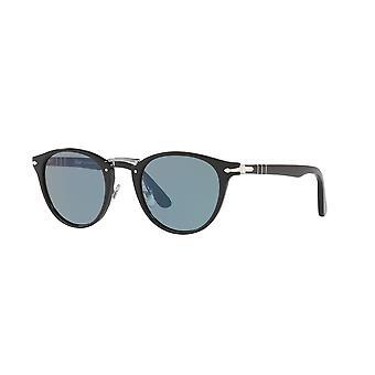 Persol Schreibmaschine Edition PO3108S 95/56 Schwarz/Hellblau Sonnenbrille