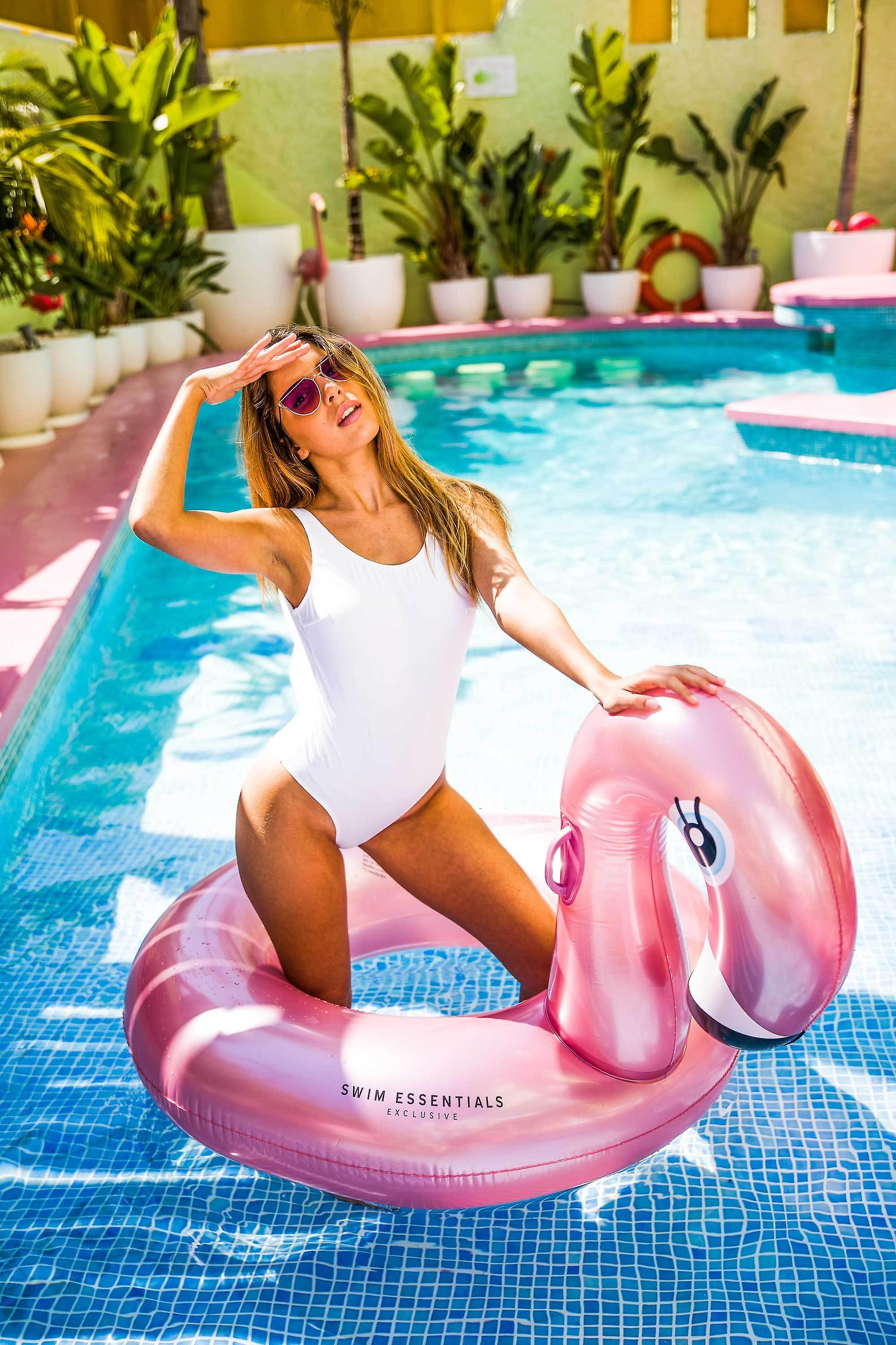Swim Essentials Rose Gold Flamingo Swim band Inflatable