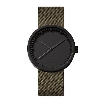 Leff Amsterdam LT71014 D38 Black Tube Green Cordura Wristwatch