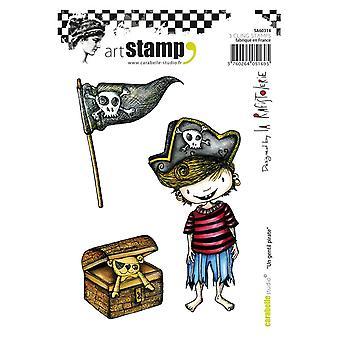 Carabelle Studio SA60314 A6 Stamp Un gentil pirate by La Rafistolerie