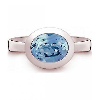 КВИНН - Кольцо - Дамы - Серебро 925 - Драгоценный камень - Синий Топаз - Ширина 56 - 21402658