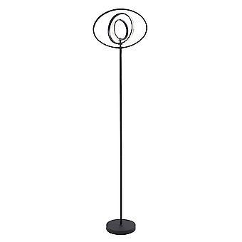 Endon Avali LED Floor Light Matt Black & White Acrílico 80680