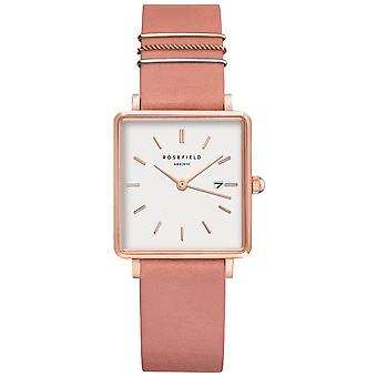 Rosefield the Boxy Quartz Analog Women Watch with Cowhide Bracelet QOPRG-Q026