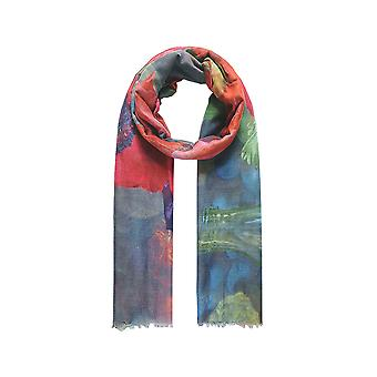 Intrigue Womens/Ladies Watercolour Poppy Scarf