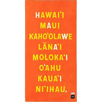 Slowtide Hawaii Nei Beach Towel in Red