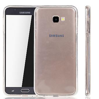 Samsung Galaxy J4 Plus tapaus tapaus 360 puhelimen suoja kotelo kattaa koko TPU tapa uksessa läpinäkyvä