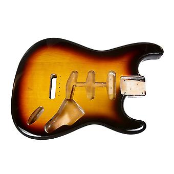 Hosco Strat Body 3 Tone Sunburst