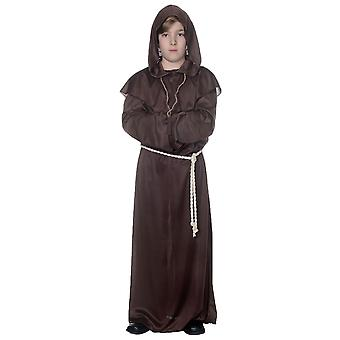 Monk Priest Friar Tuck Medieval Religious Brown Robe Book Week Boys Costume