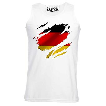 Reality glitch torn germany flag mens vest