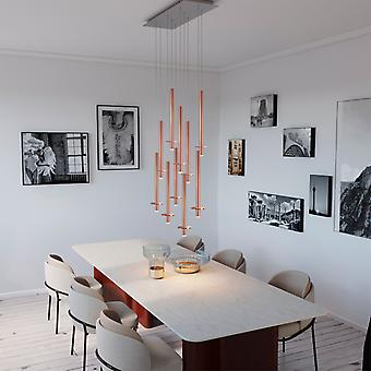 DRACO 10 Pendant Lighting Copper - LED Hanging Light Fixture