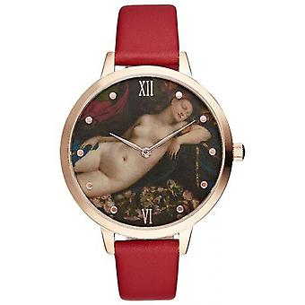 Charlotte Rafaelli CRR012 horloge - watch Armband leder rood Romance vrouw