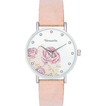 Tamaris - Wristwatch - Alva flower 1 - DAU 38mm - Matte Silver - Women - TW035 - Pink Silver White