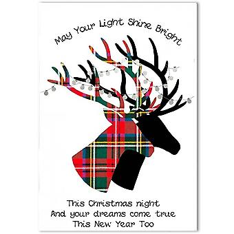 Embroidered Originals Stags Christmas Card