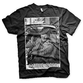 Knight Rider KITT Car David Hasselhoff Portrait Officiel T-Shirt