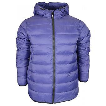 Weekend Offender Frazier Nylon Zip Up Hooded Navy Jacket